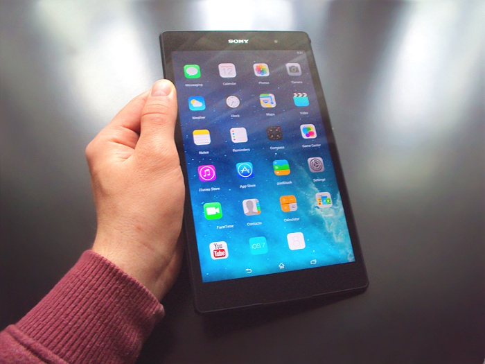 Launcher 8 Free na tablete SONY XPERIA Z3 TABLET COMPACT (foto: 3digital.sk)