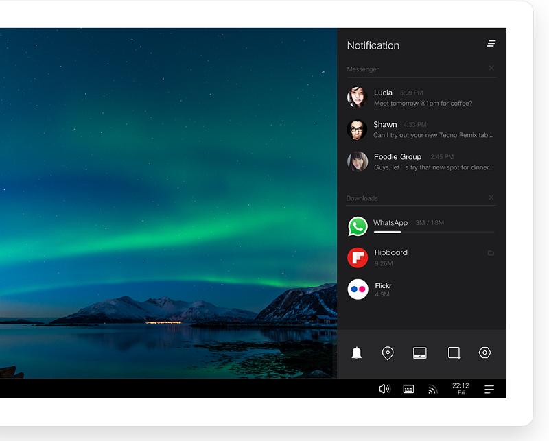 Remix OS bežiaci na Android Lollipop
