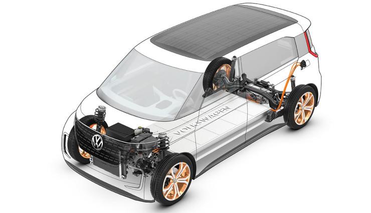 Dva elektrické motory, každý na jednej náprave.