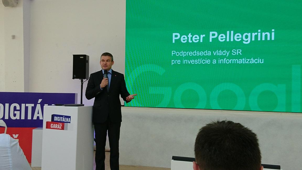 Peter Pellegrini. Google Digitálna garáž