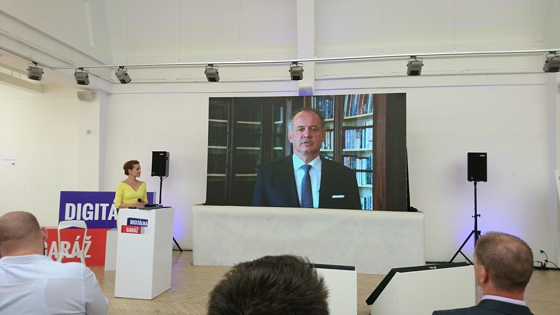 Príhovor prezidenta SR. Andrej Kiska a Digitálna garáž