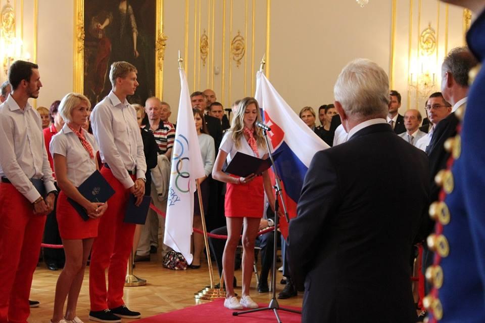 Sľub olympionikov 2016 odovzdaný do rúk prezidenta Andreja Kisku (foto: Erik Stríž)