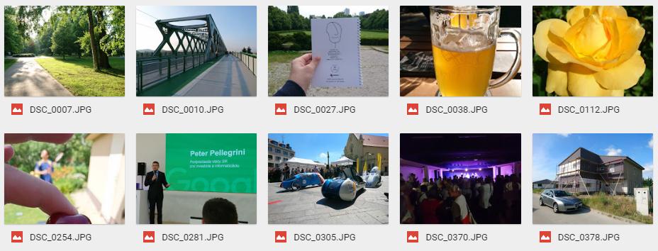 Neupravené fotografie zo Sony Xperia X (F5121) na Google Drive