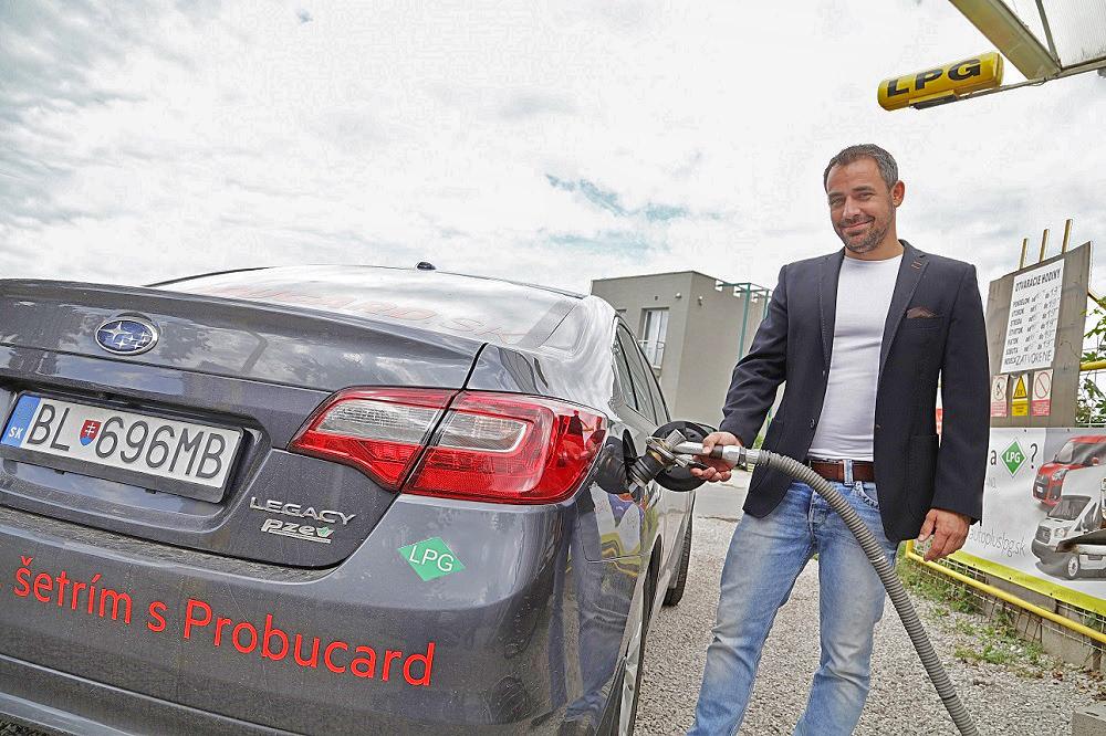 Filip Tůma a jeho Subaru Legacy na LPG pohon od Probucard (foto: Probucard)