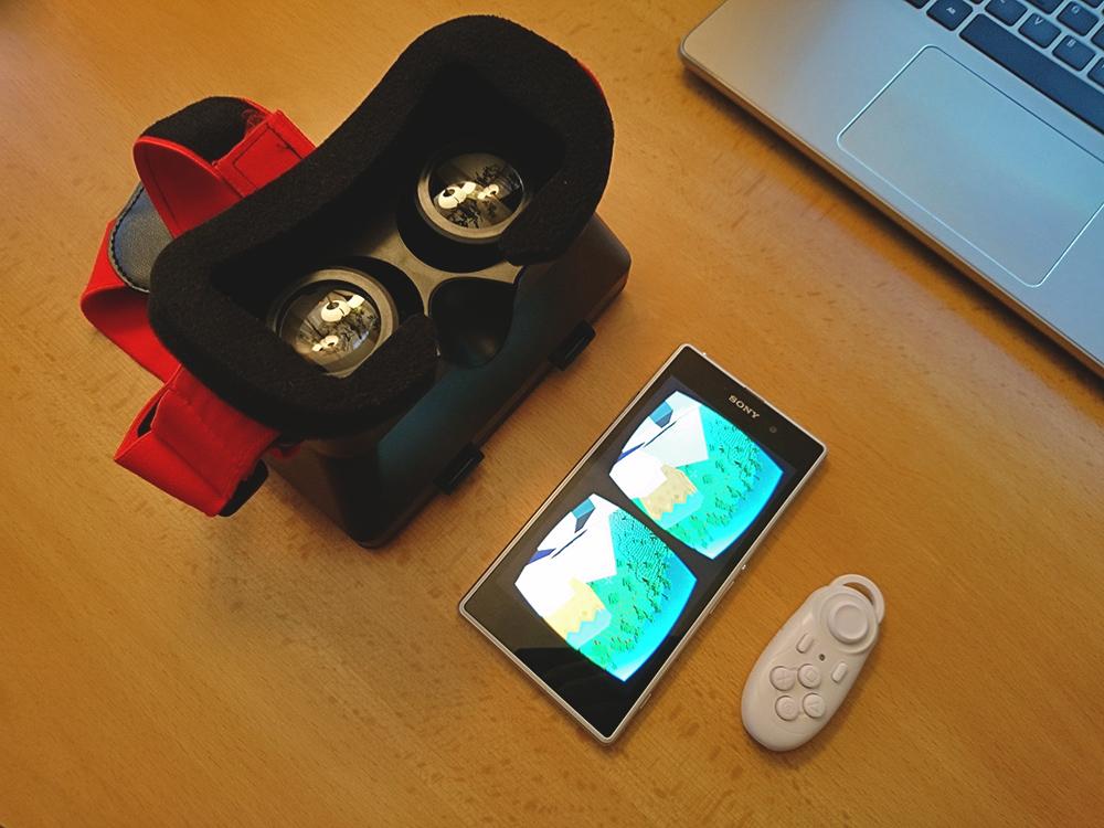 Stačí pasívny VR headset, smartfón Sony Xperia a lacný bluetooth ovládač