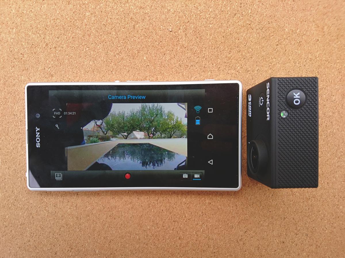 Sencor 3CAM 5200W umožňuje Wi-Fi prepojenie s mobilným telefónom cez aplikáciu iSPO CAM.