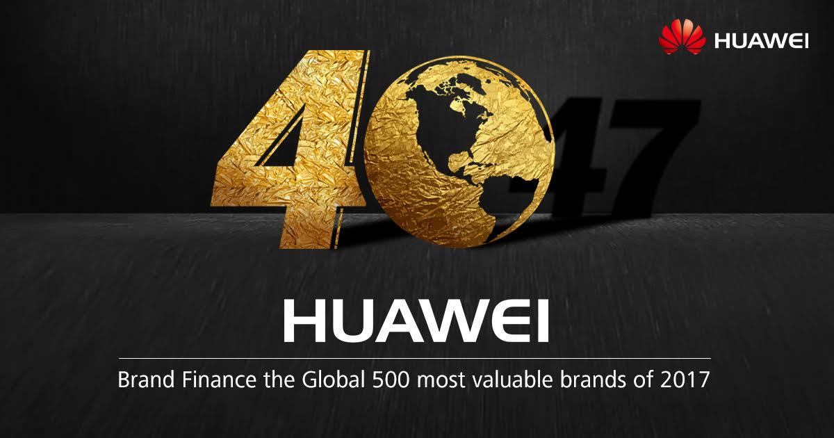 Huawei je podľa Brand Finance Global 500 40. najhodnotnejšou značkou na svete s ratingom AAA-