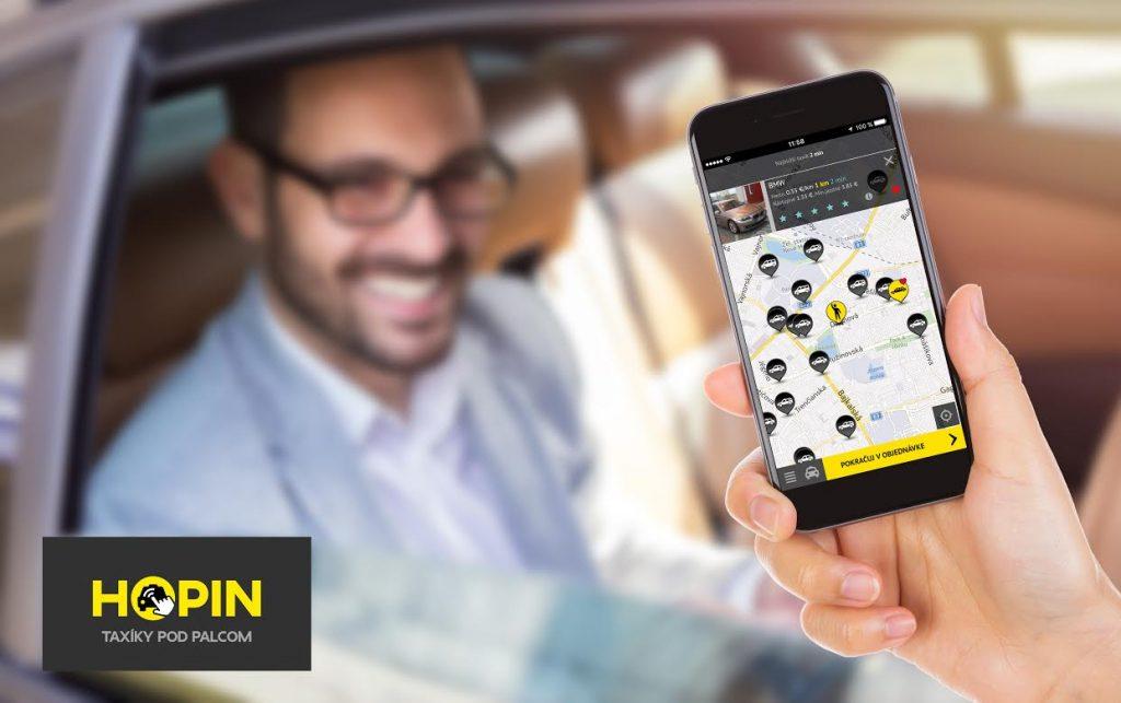 Aplikácia HOPIN TAXI, ilustračná fotografia