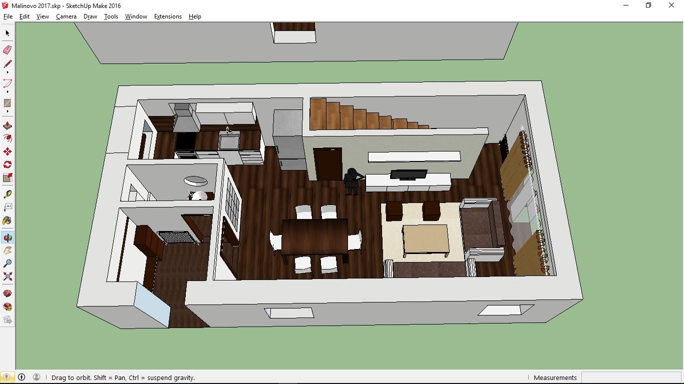 3D modelovací program SketchUp v jeho bezplatnej verzii (foto: 3Digital.sk)