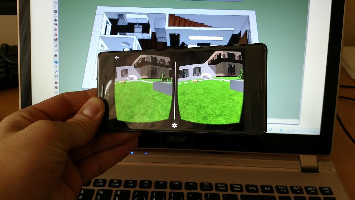 Virtuálna realita z obyčajného 3D modelu vyrobenom v programe SketchUp. (foto: Erik Stríž/3Digital.sk)
